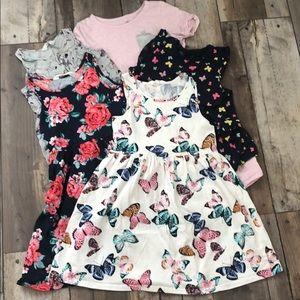 Five different cute dresses.